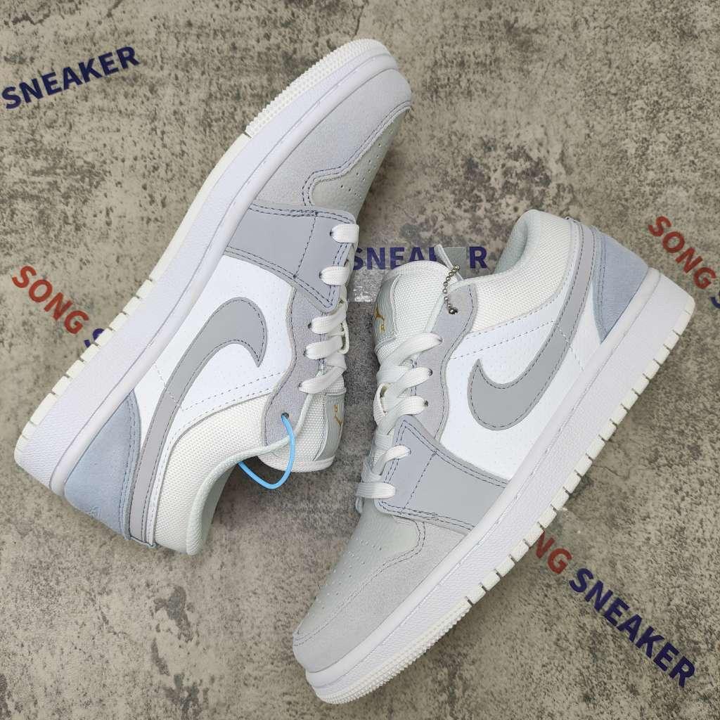 Jordan 1 Low White Cool Grey Wolf Grey