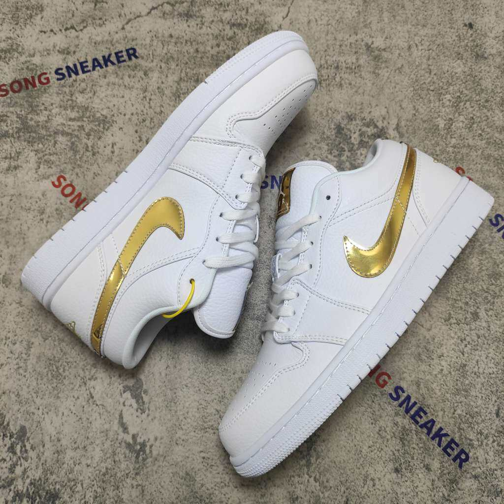 Jordan 1 Low White Metallic Gold (W)