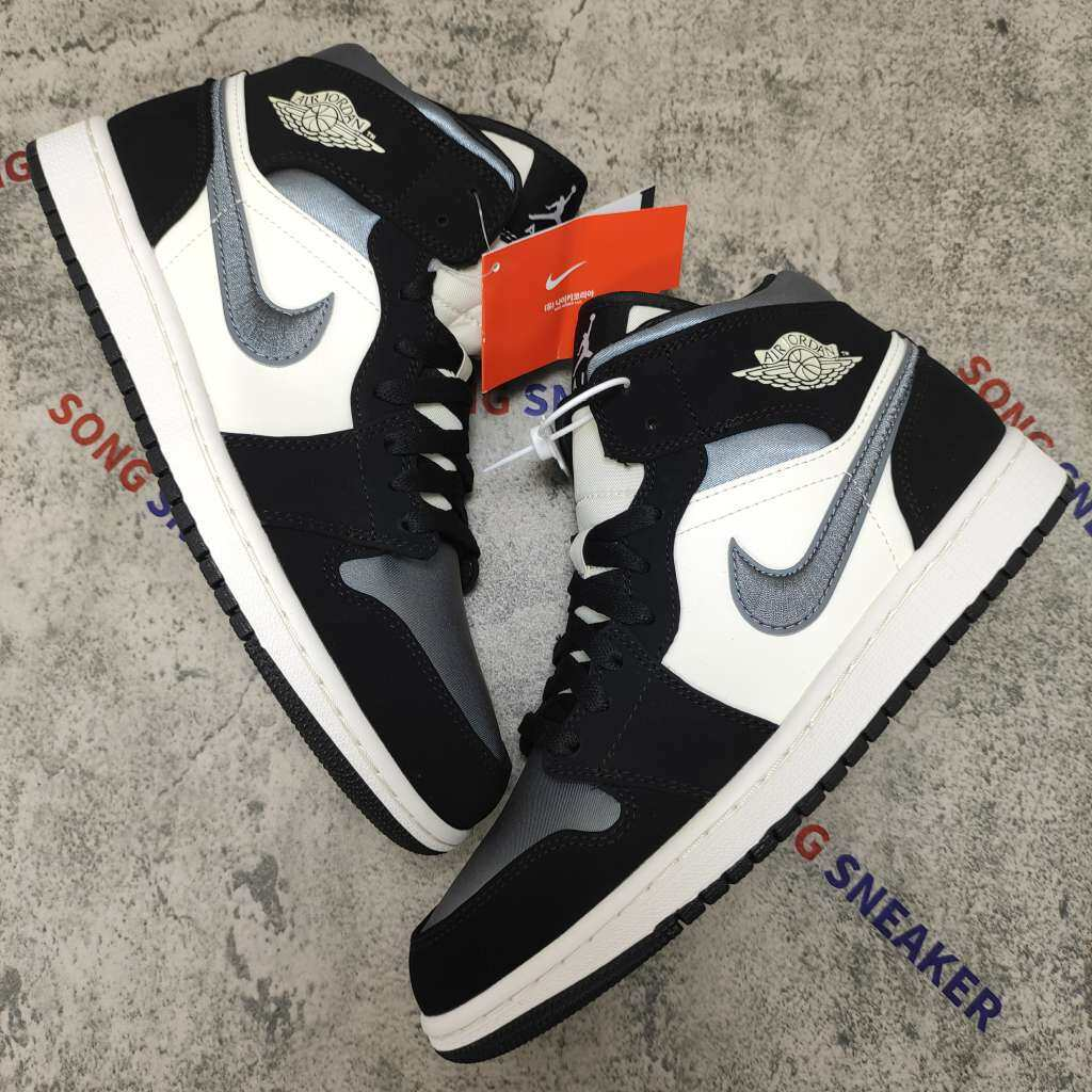 Jordan 1 Mid Satin Grey Toe