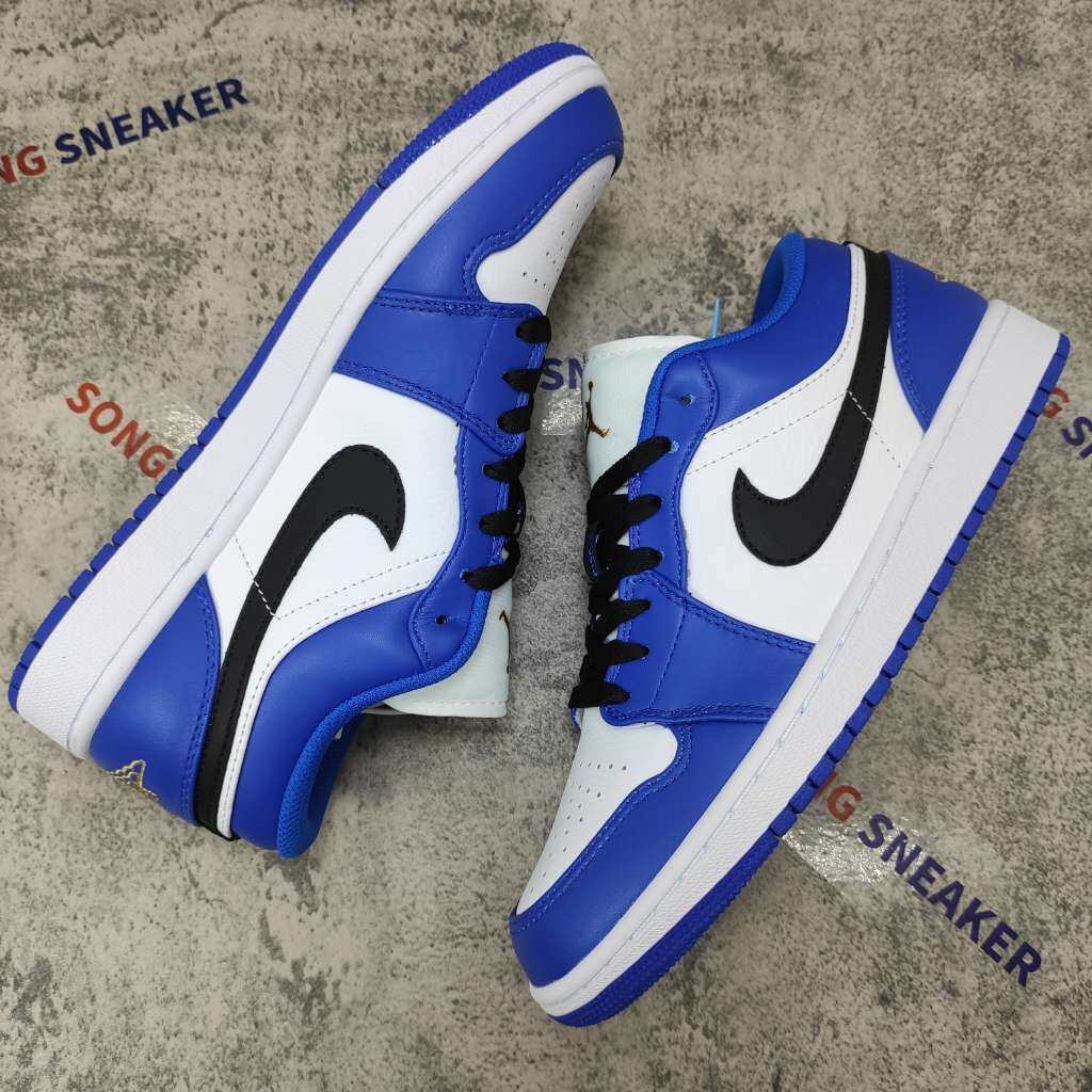 Air Jordan 1 Low Hyper Royal Orange Peel