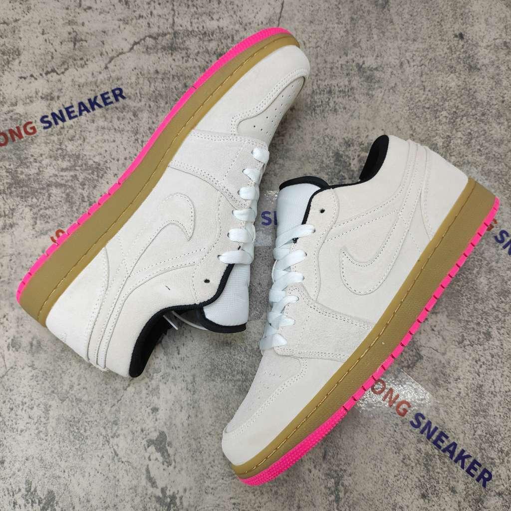 Air Jordan 1 Low White Gum Hyper Pink