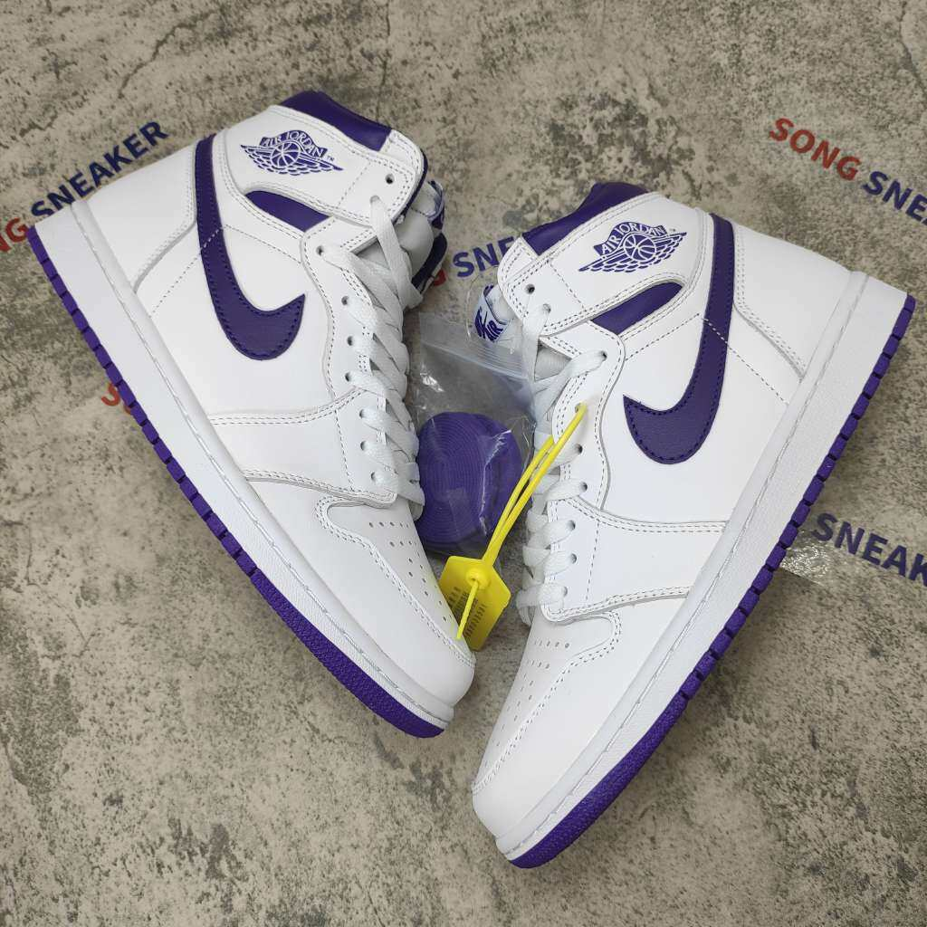 Air Jordan 1 Retro High OG White Purple