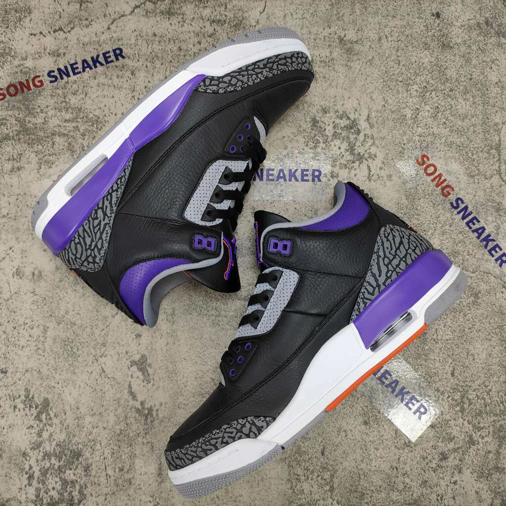 Air Jordan 3 Retro Black Court Purple