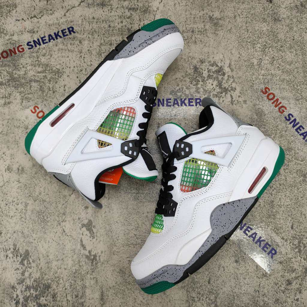 Air Jordan 4 Retro Lucid Green Rasta (W)