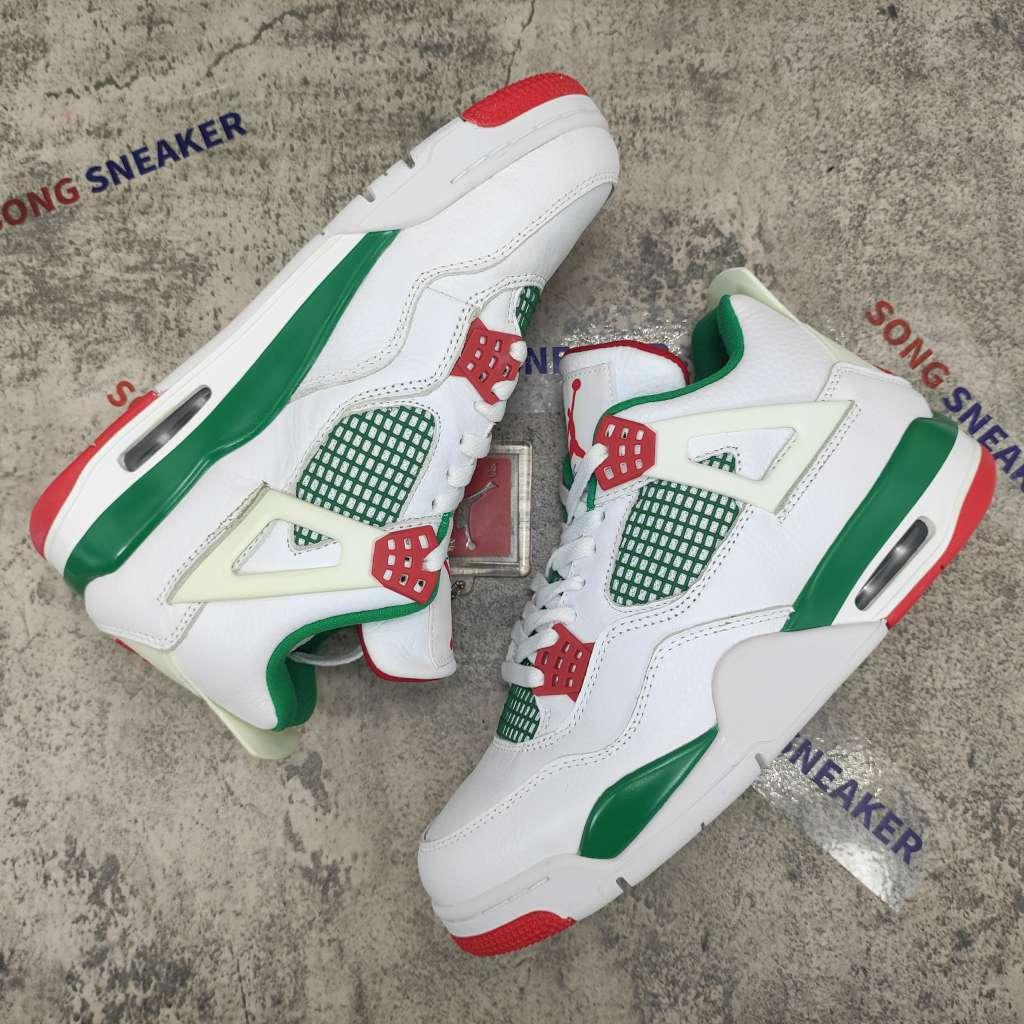 Air Jordan 4 Retro White Green Red