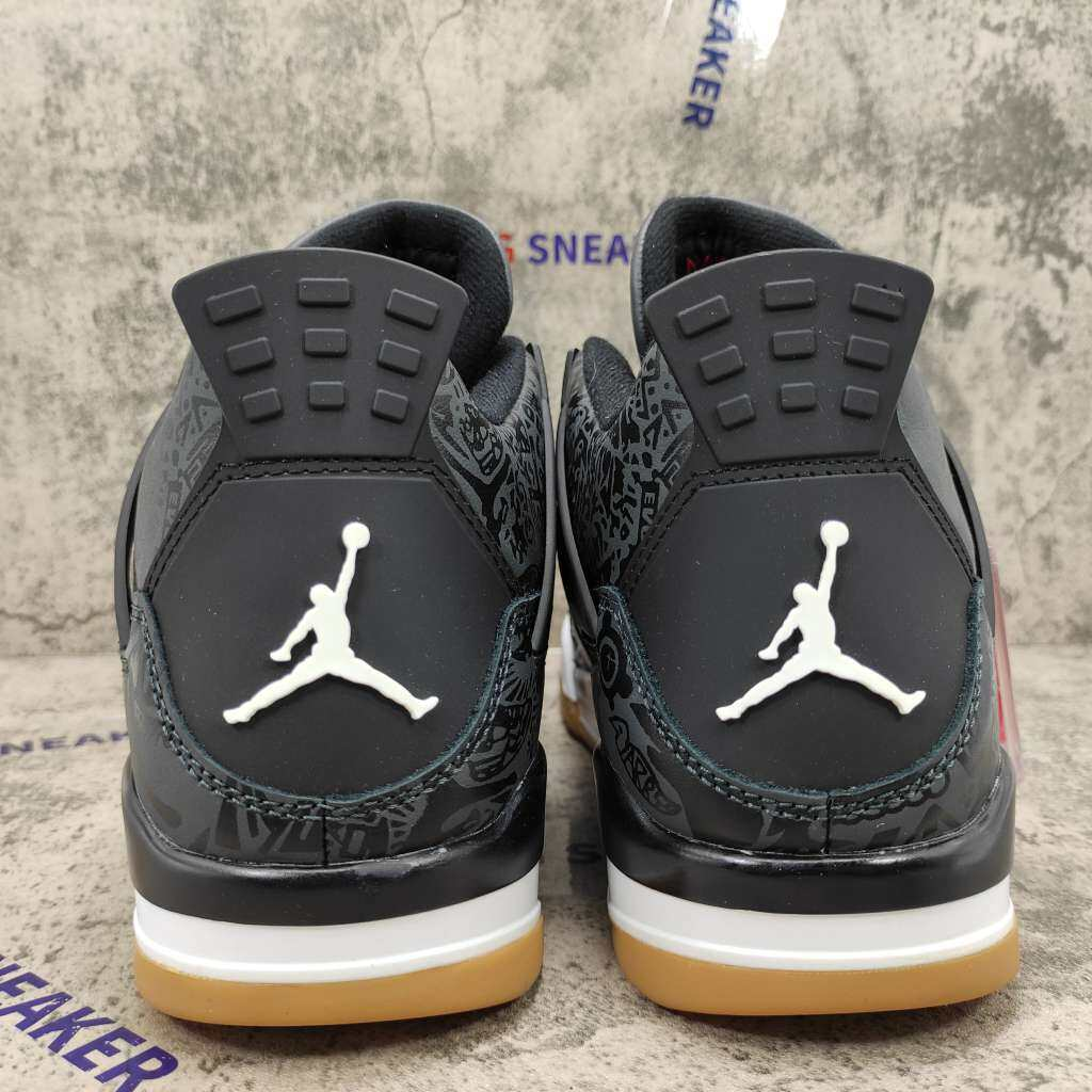 Air Jordan 4 Retro Laser Black Gum