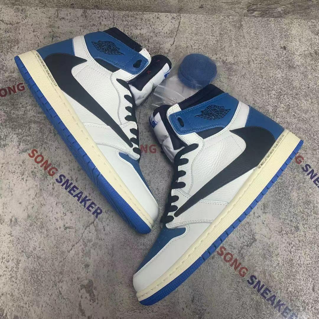 Air Jordan 1 x Travis Scott x Fragment Military Blue