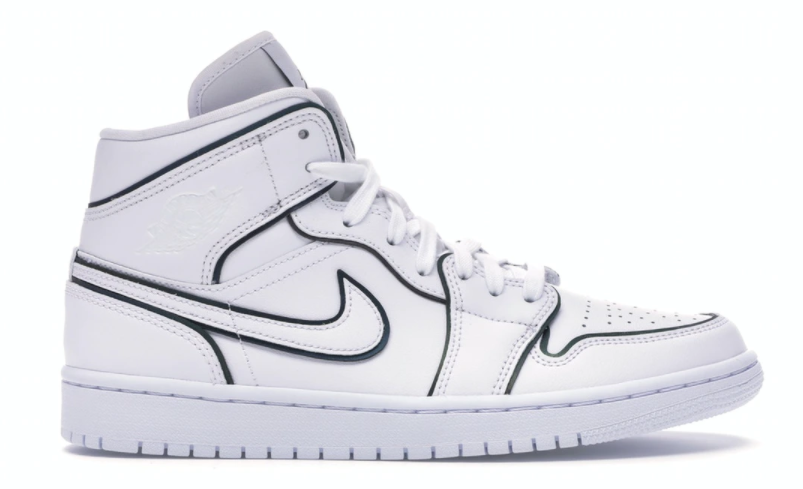 Air Jordan 1 Mid Iridescent Reflective White (W)