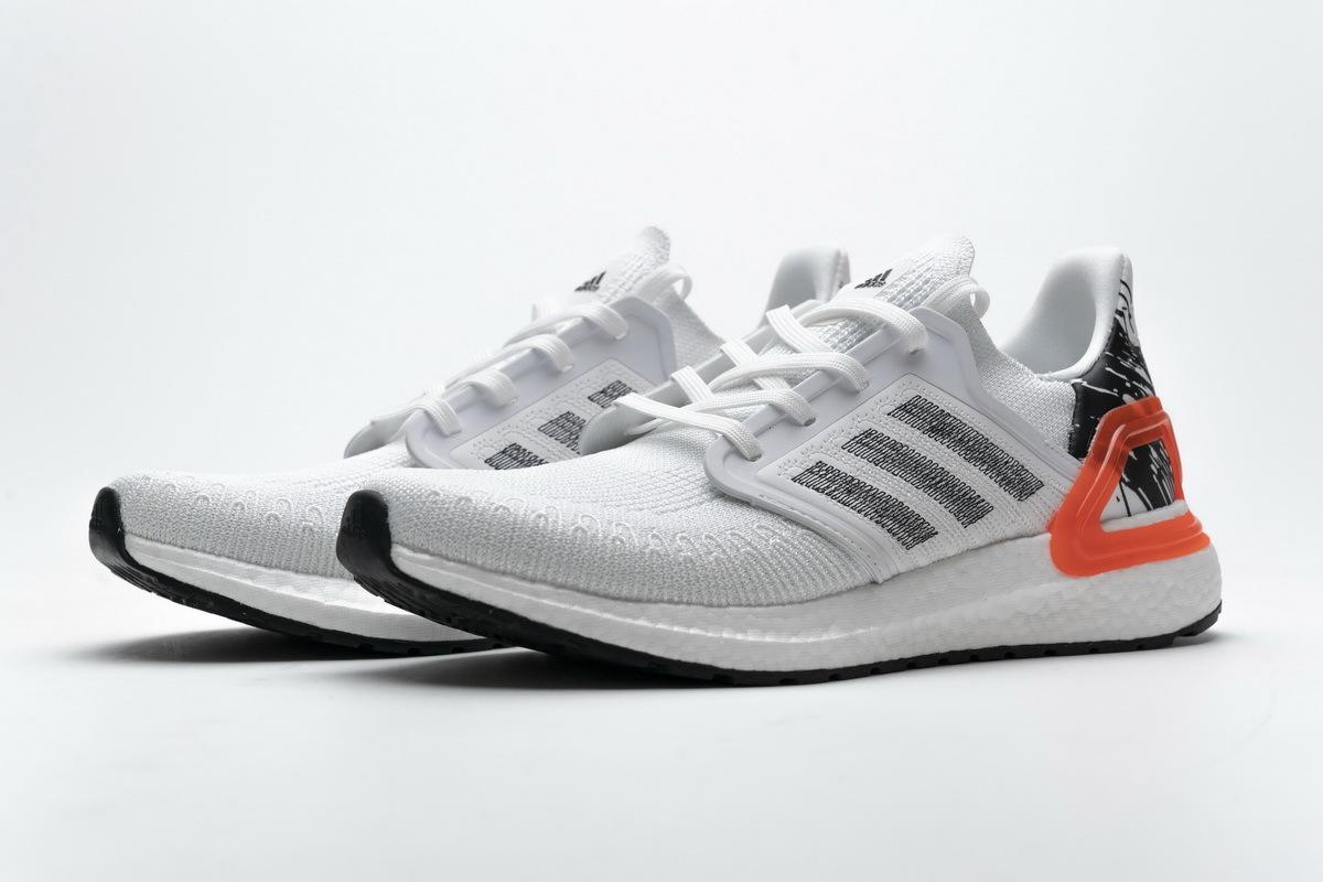 Adidas Ultra BOOST 20 Splatter White Black EG0699