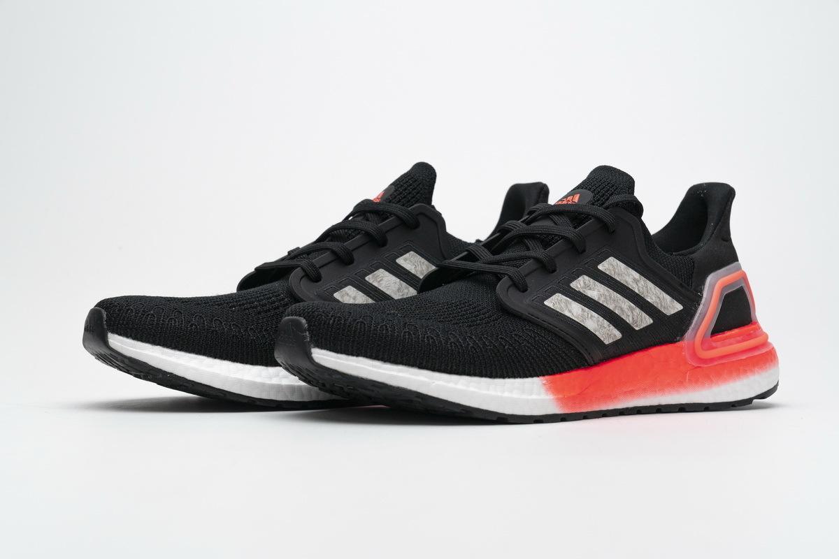Adidas Ultra Boost 20 Core Black Signal Coral EG0756