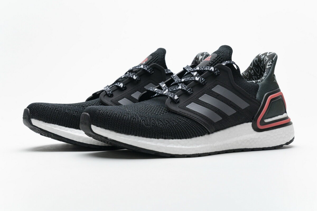 Adidas Ultra BOOST 20 Black White Red FX8895