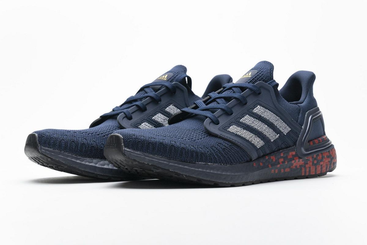 Adidas Ultra BOOST 20 Dark Blue Red FY3451