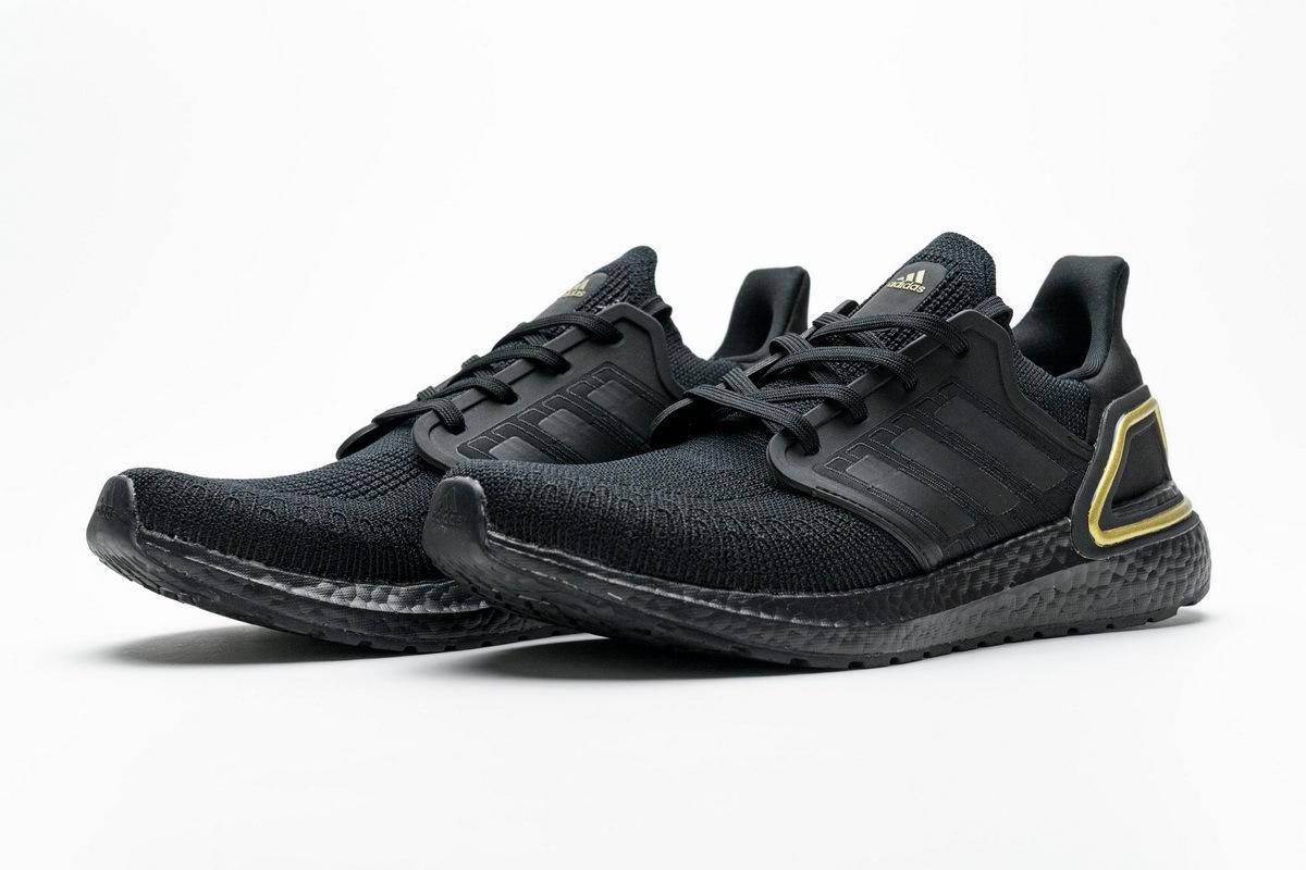 Adidas Ultra Boost 20 Core Black Gold Metallic EG0754