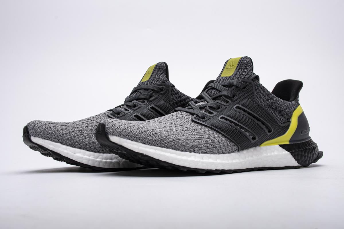 Adidas Ultra Boost 4.0 Grey Black Yellow G54003