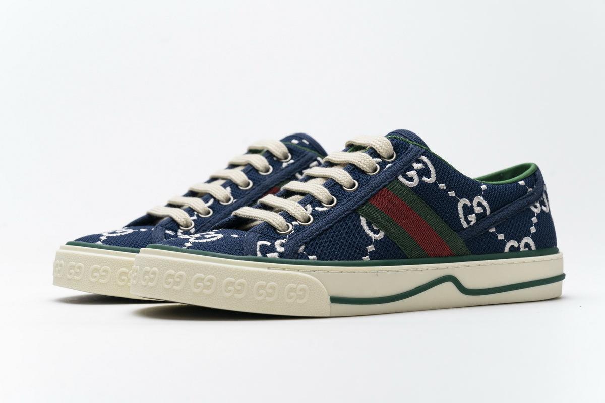 Gucci Women Tennis Dark Blue Sneaker G602129 AY070 9591