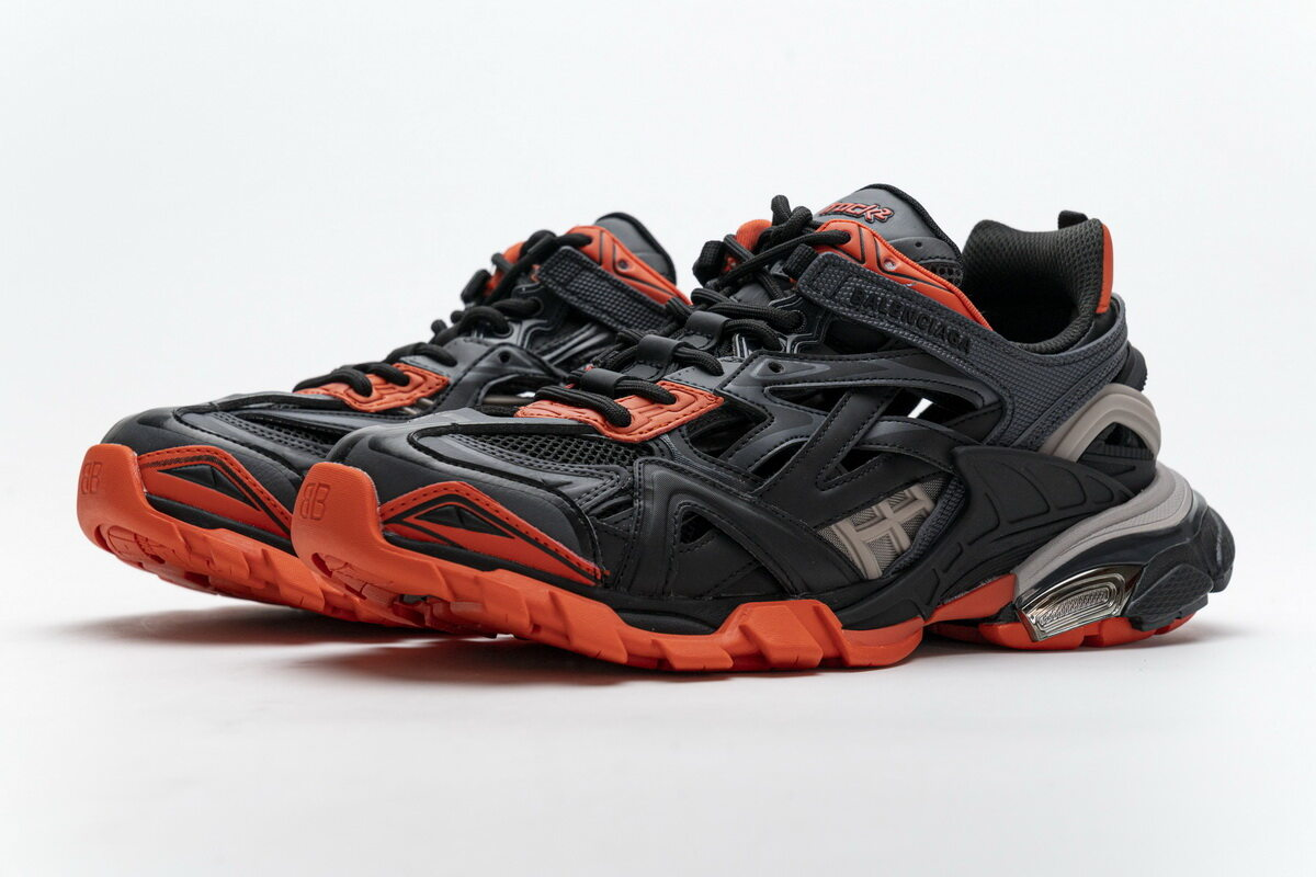 Balenciaga Track 2 Sneaker Dark Grey Orange 570391 W2GN1 2002
