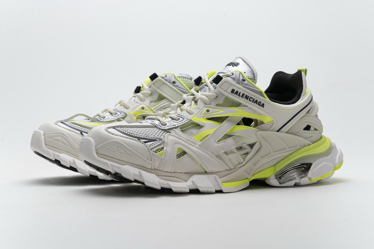 Balenciaga Track 2 Sneaker White Fluo Yellow 568515 W2ON3 9073