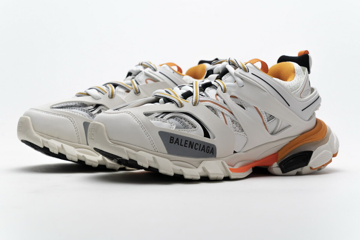 Balenciaga Track White Orange 542436 W1GB7 9059