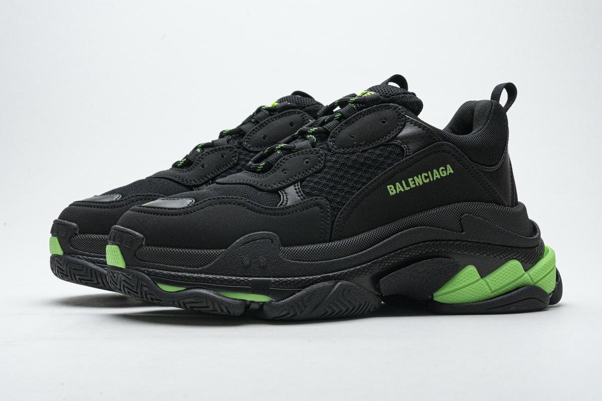 Balenciaga Triple S Black Green 524039 W2PW1 4881