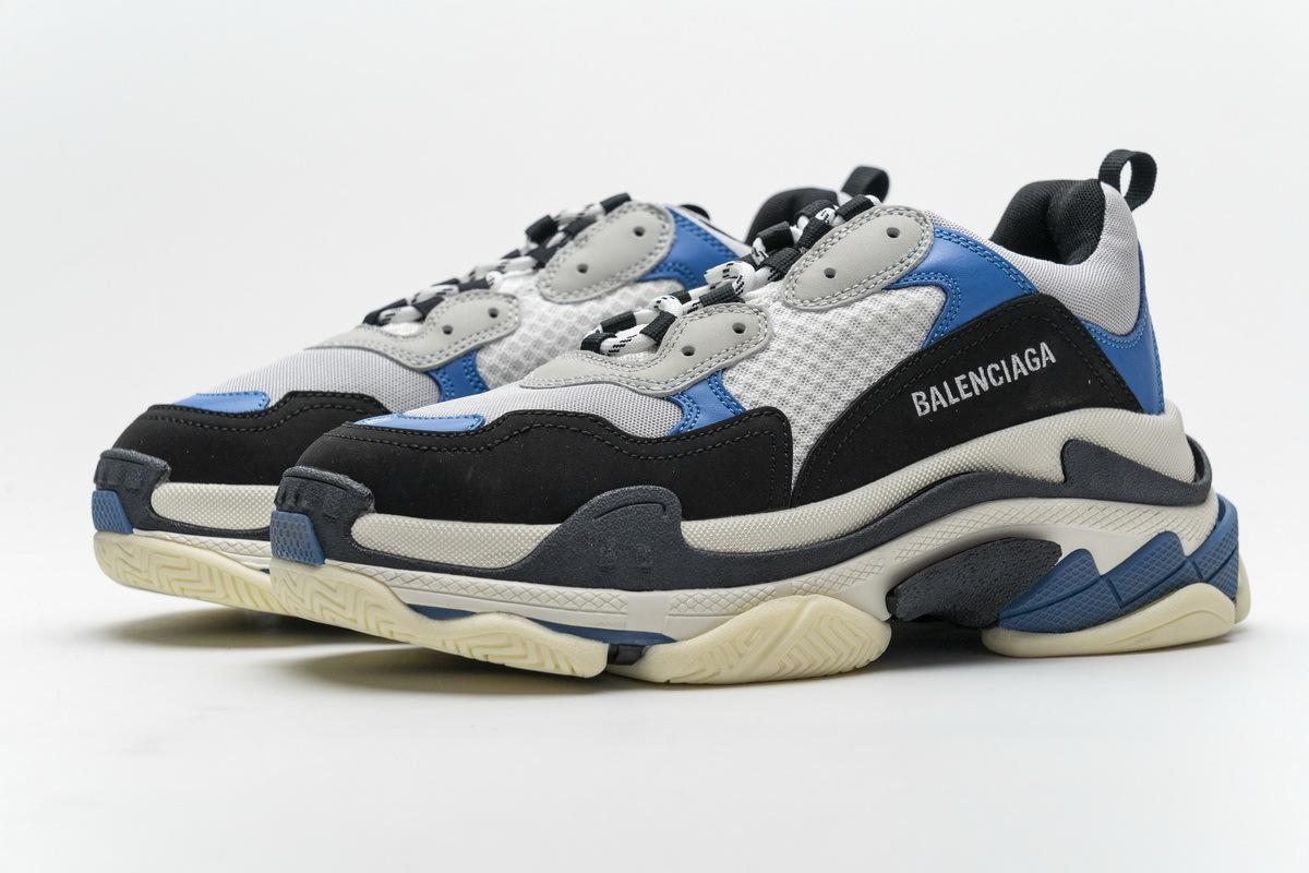 Balenciaga Triple S Black Grey Blue 541624 W06E2 7080