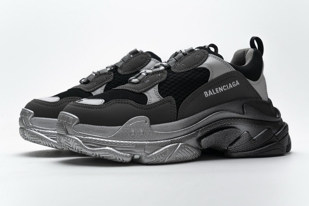 Balenciaga Triple S Black Grey Silver 483546 W06F1 0841