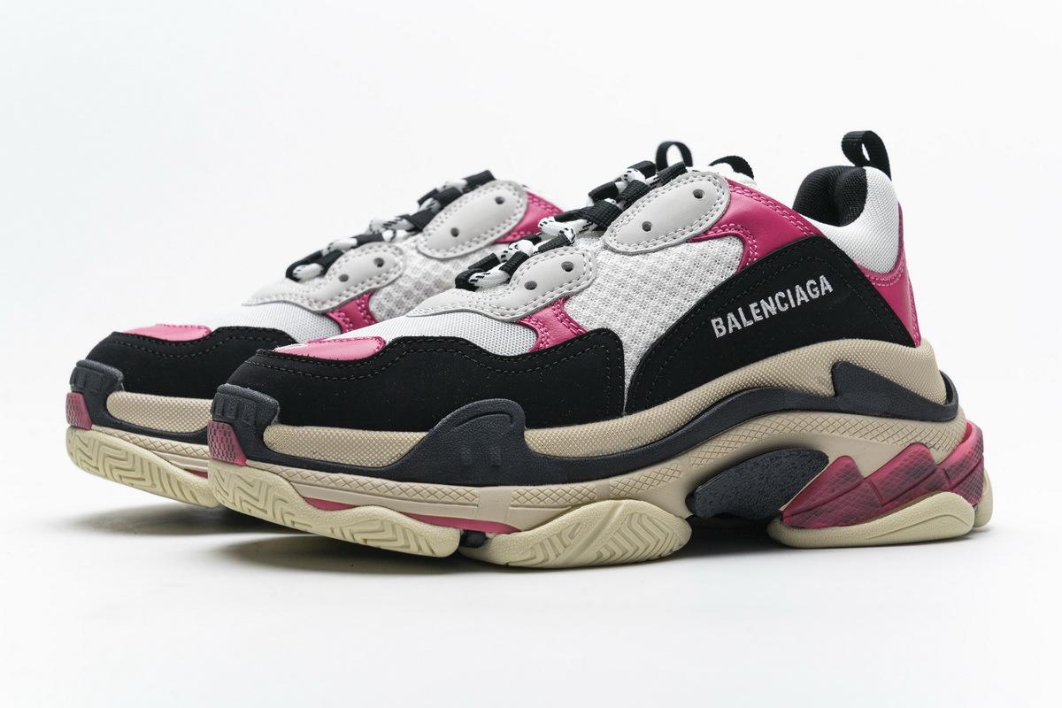 Balenciaga Triple S Black Pink 483513 W06E8 8080