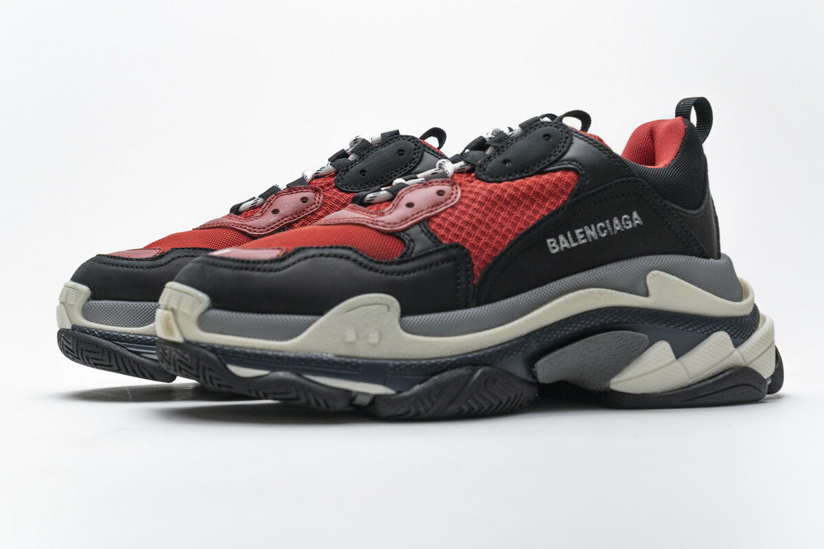 Balenciaga Triple S Black Red Grey 483513 W06E1 1006