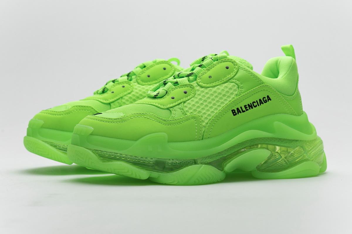 Balenciaga Triple S Fluorescent Green 544351 W09O1 3802