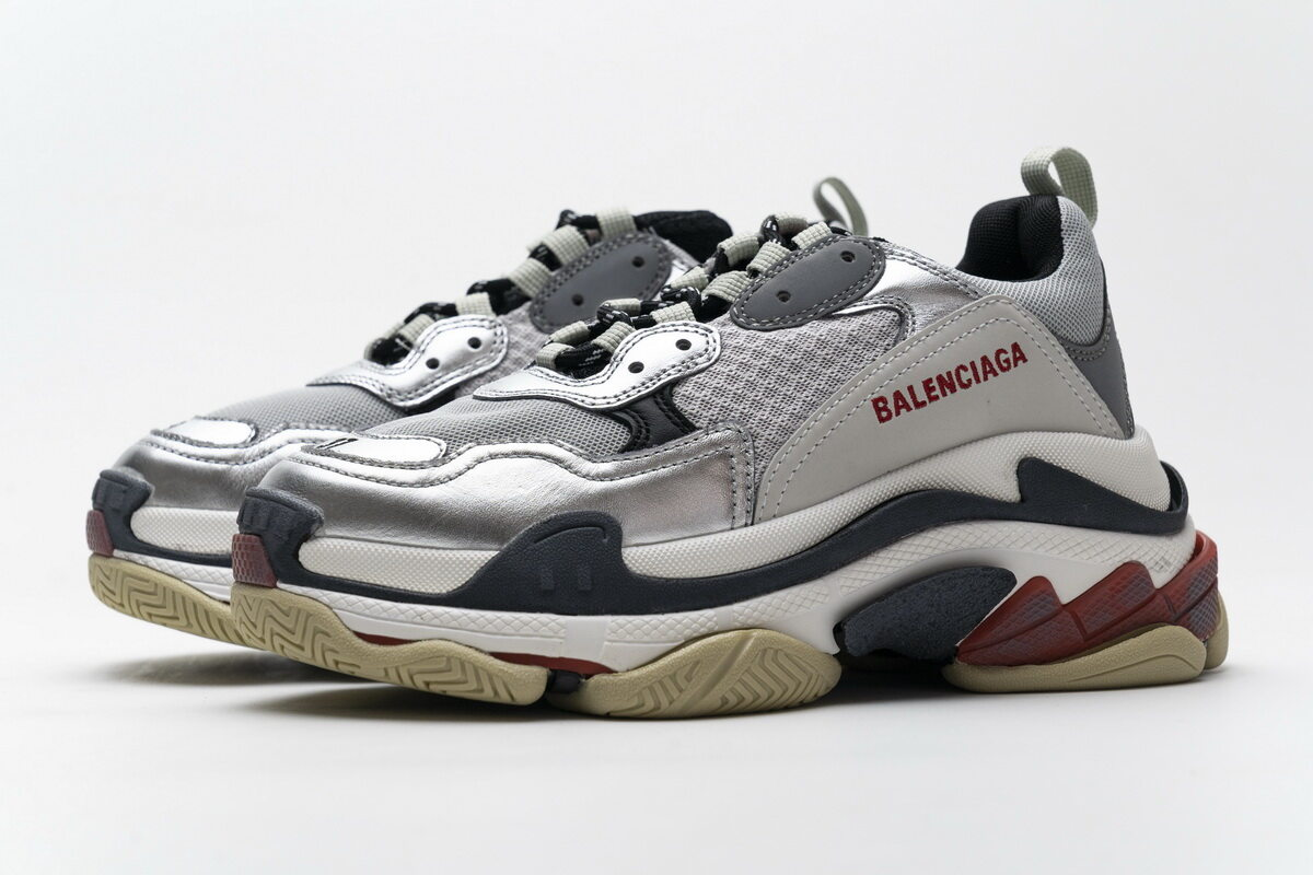 Balenciaga Triple S Grey Silver 541624 W06E2 7320