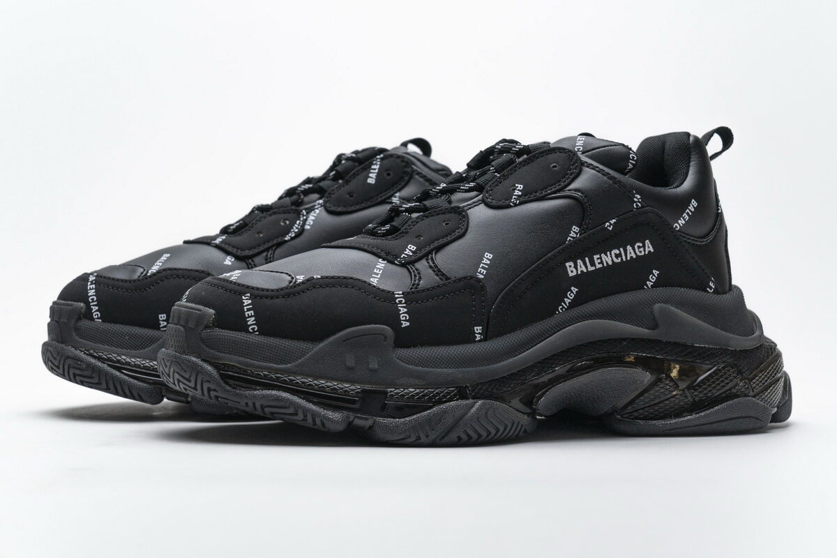 Balenciaga Triple S Letter Black 524039 W09E1 2021