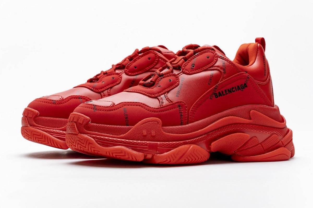 Balenciaga Triple S Letter Bright Red 524039 W2FA1 7632