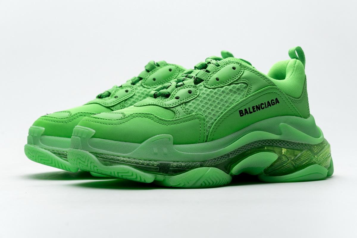 Balenciaga Triple S Neon Green Clear Sole 544351 W09OL 3801