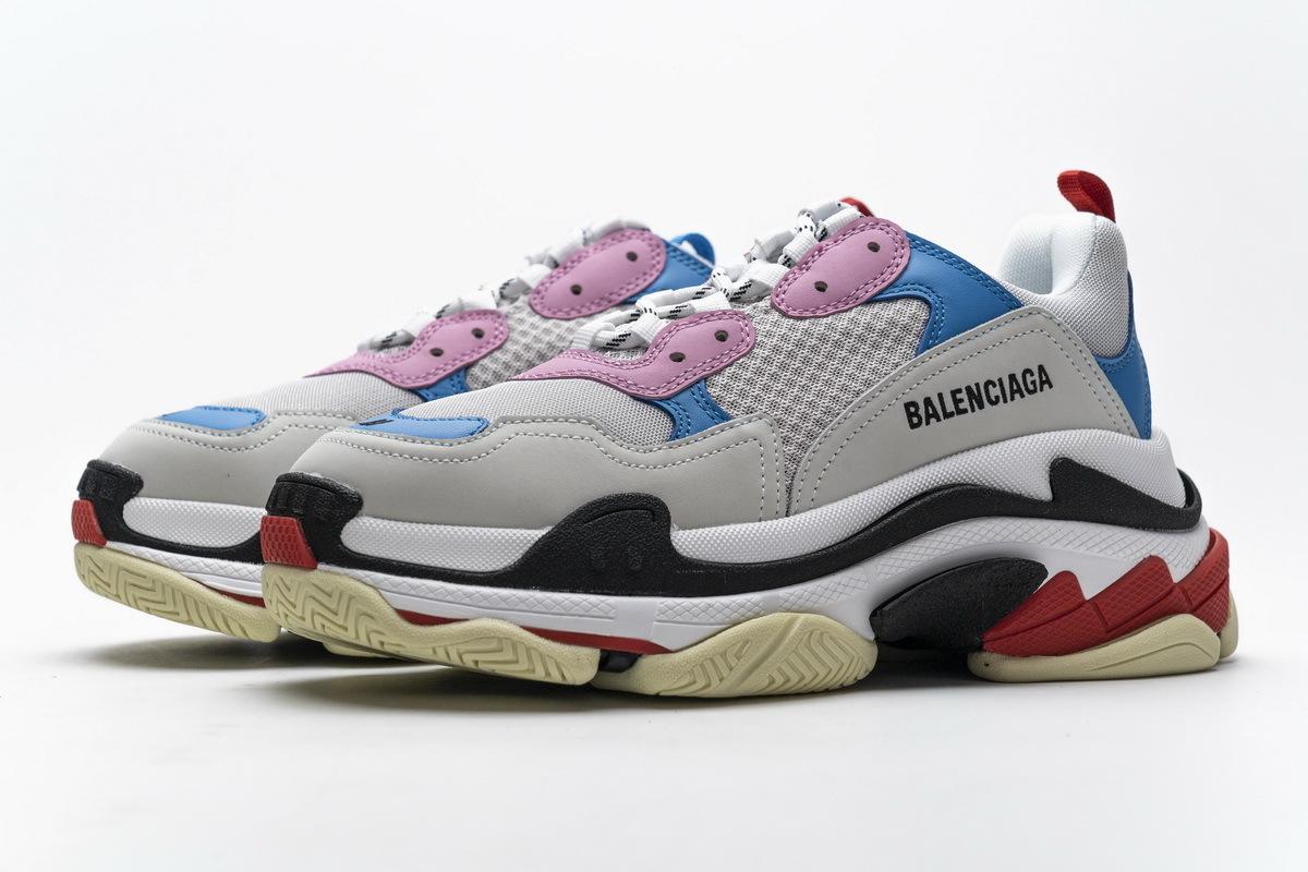 Balenciaga Triple S Pink Bright Blue 541624 W06E2 1150