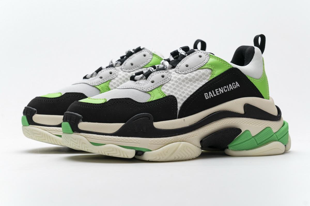 Balenciaga Triple S White Green 483513 W06E1 1008