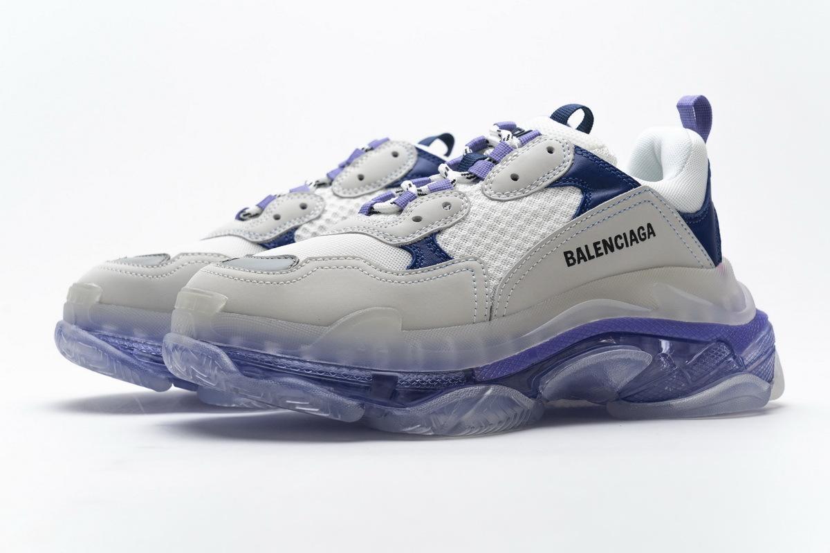 Balenciaga Triple S White Purple 544351 W09E1 1322