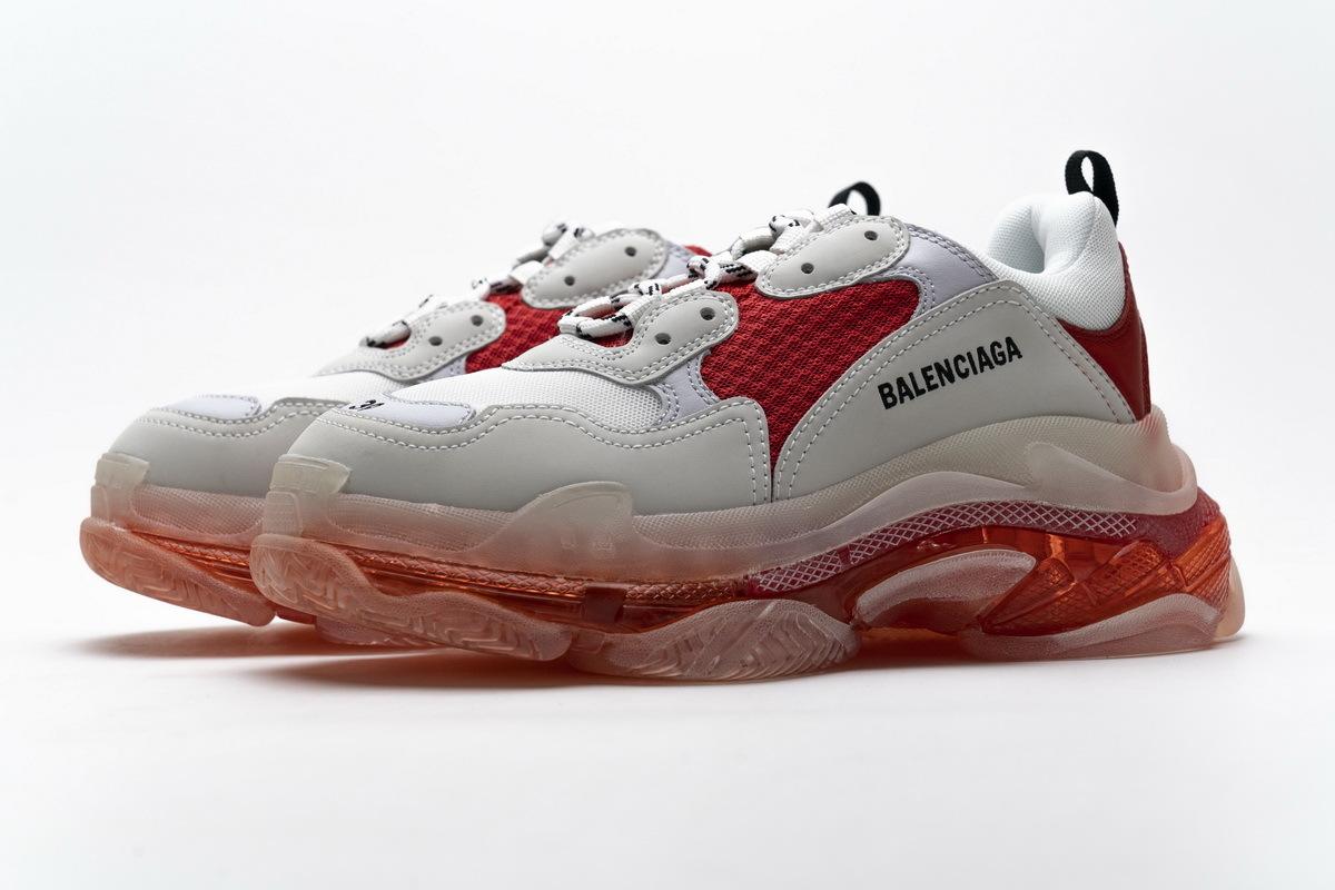 Balenciaga Triple S White Red 544351 W09E1 4552
