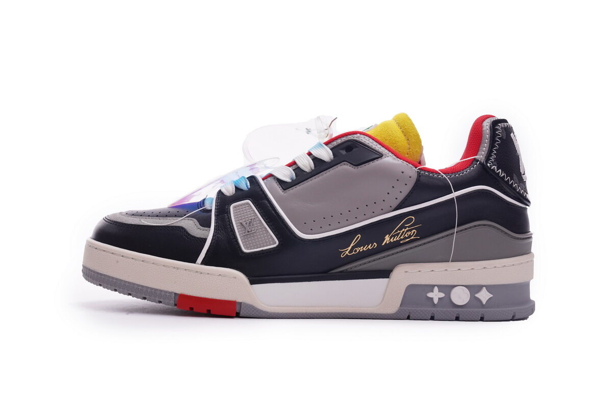Louis Vuitton Trainer Black Red Yellow