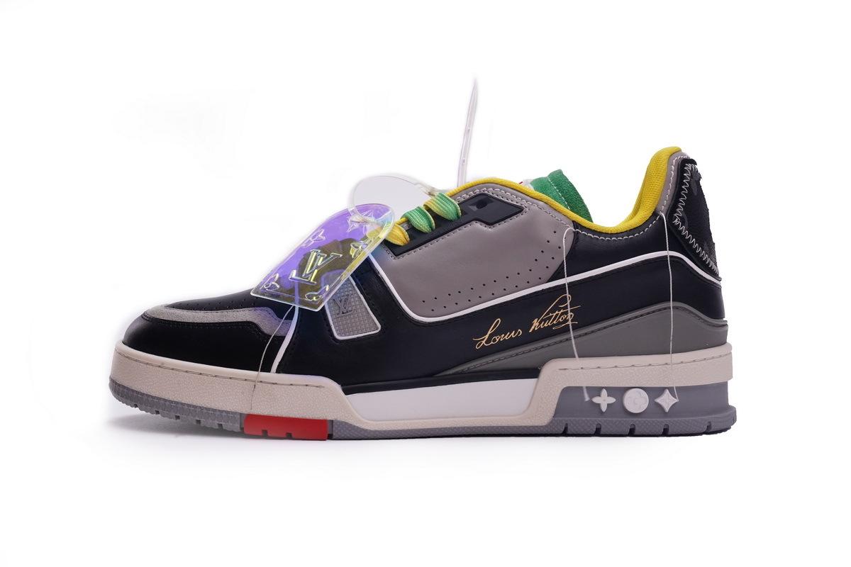 Louis Vuitton Trainer Black Yellow Green