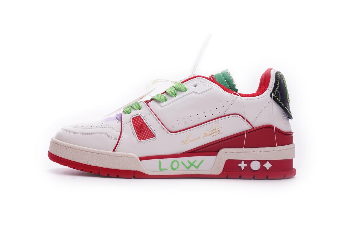 Louis Vuitton Trainer White Red Green