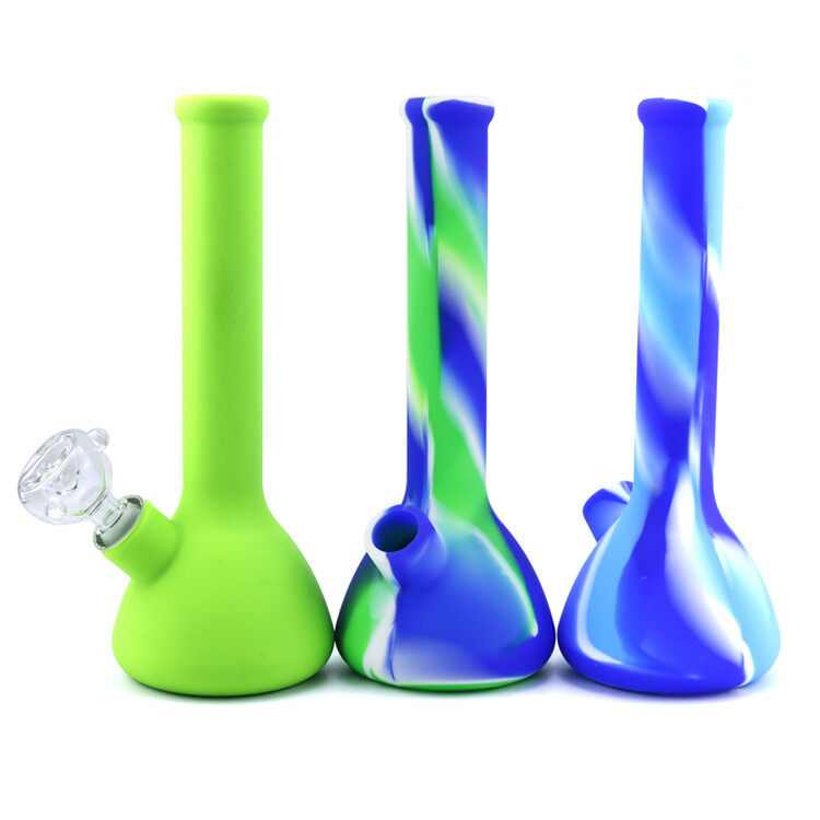 8.6 Inch Psychedelic Silicone Beaker Bong