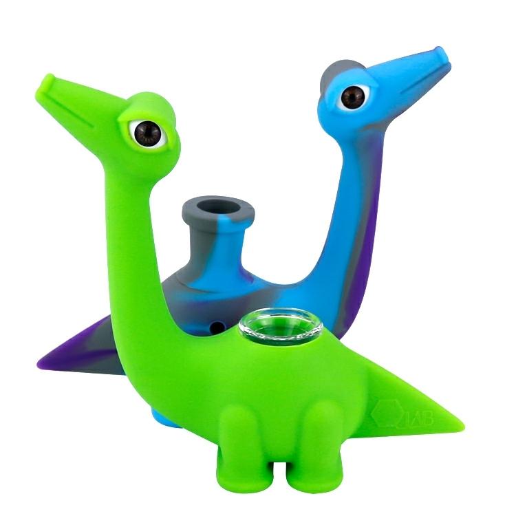 5 Inch Cool Dinosaur Silicone Smoking Pipe