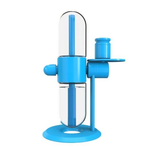 Blue Gravity Big Bong | 360 Degree Rotating 15 Inch Glass & Aluminum Hookah