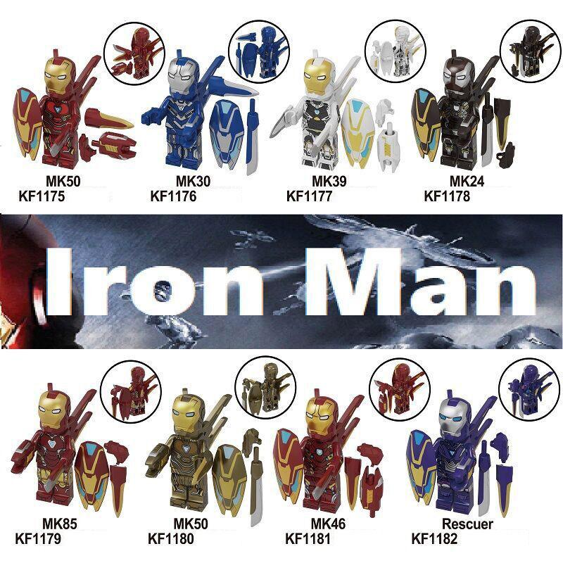 Kopf Superhero Series Assembled KF6093- Building Block Minifigure Iron Man