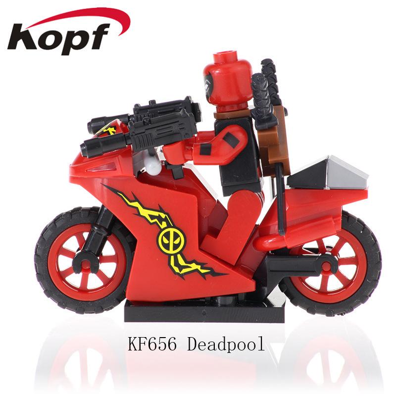 Kopf Superhero Series Assembled KF656- Building Block Minifigure Red Deadpool