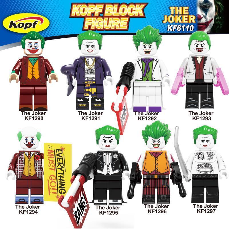 Kopf superhero figures - villain character clown JOKER assembling building blocks minifigure educational toys
