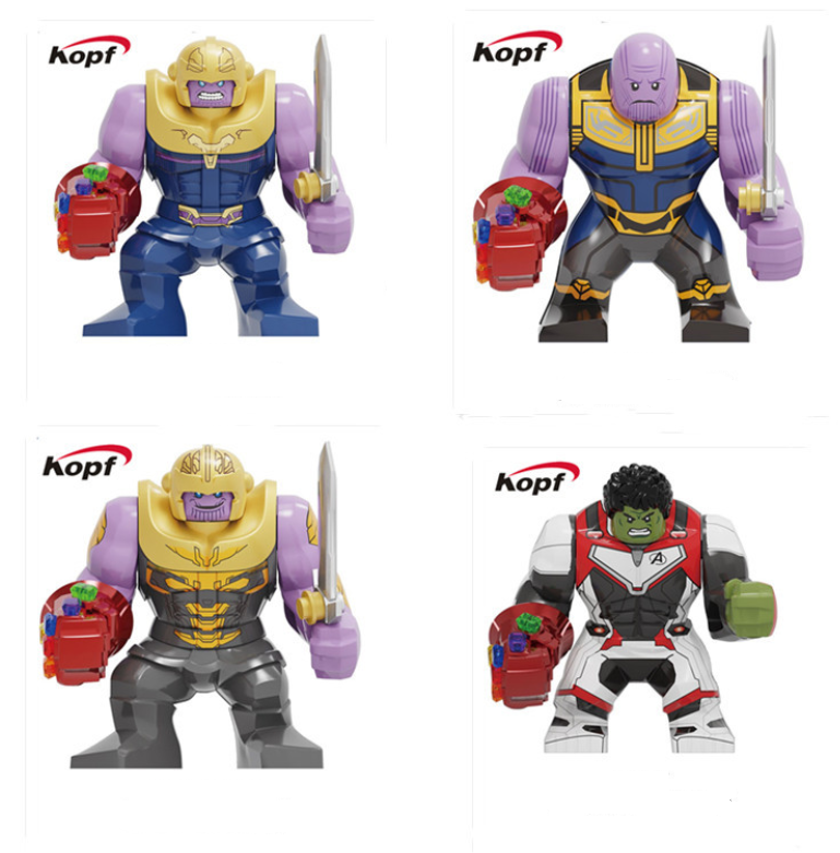 Kopf Super hero figures - thanos hulk with gloves minifigures