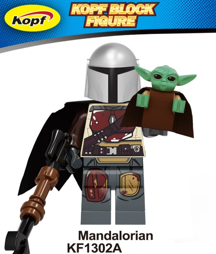 Kopf Star Wars Mandalorian Youda Assembles Bricks And Dolls Minifigures