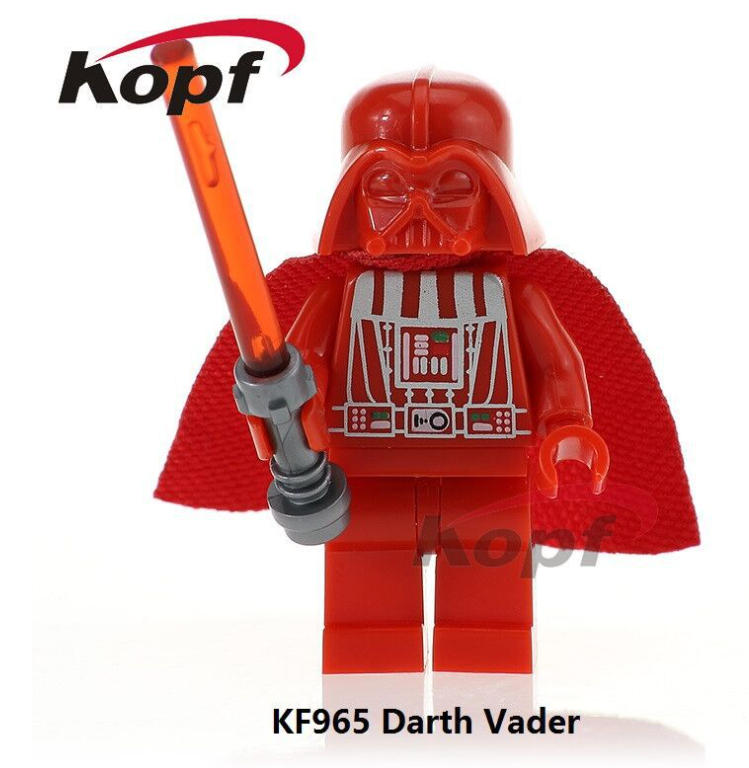 Kopf Star Wars Red Black Vader Foreign Trade Bag With The Same Style Minifigures