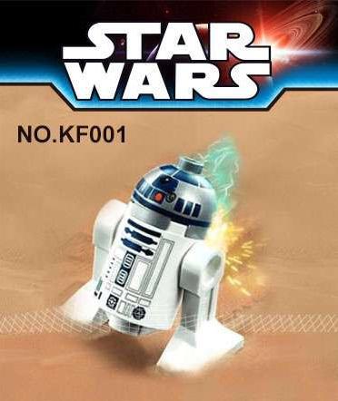 Kopf Star Wars Robot R2D2 Minifigures