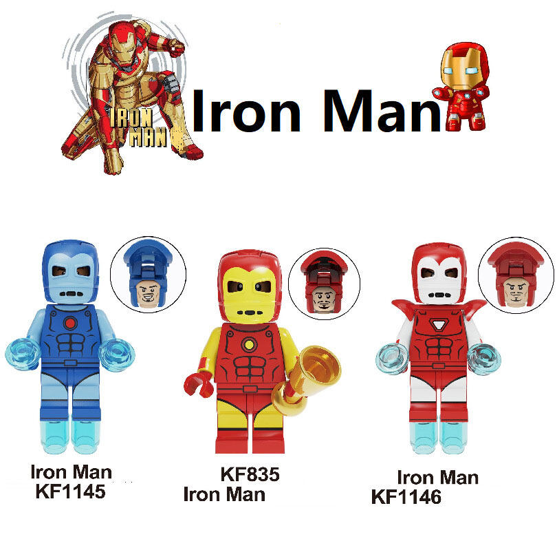 Kopf Super hero figures - Iron Man Assembled Building Blocks Minifigures Educational Toy